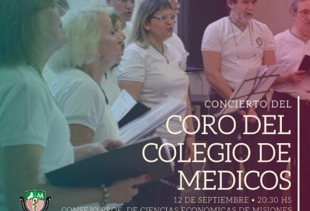 El Coro del Colegio de Médicos se presentará en Posadas