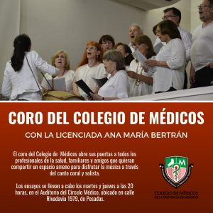 COMENZARON LOS ENSAYOS DEL CORO DEL COLEGIO MÉDICO