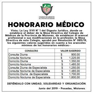 ACTUALIZACIÓN DE LOS ARANCELES PROFESIONALES