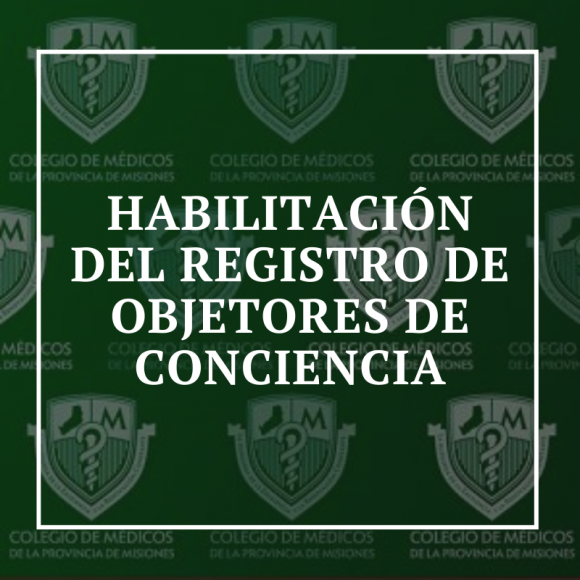 Habilitación del Registro de Objetores de Conciencia