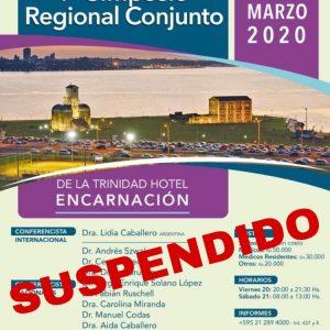 Suspenden Simposio Regional y Jornada de Residentes