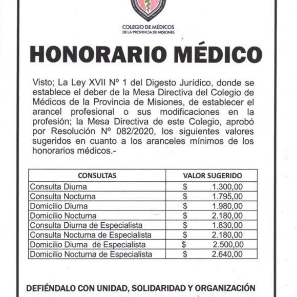 El Colegio de Médicos estableció nuevos honorarios para los profesionales de la salud