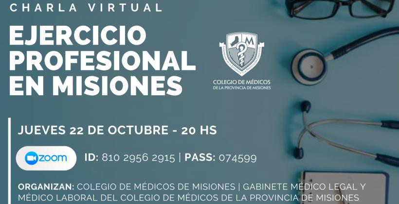 """Charla Online """"Ejercicio Profesional en Misiones"""""""