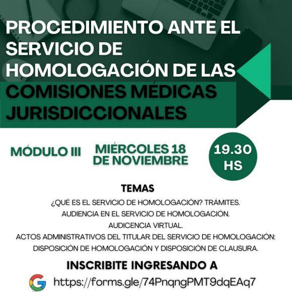 """Capacitación sobre """"Procedimiento ante el Servicio de Homologación de las Comisiones Médicas Jurisdiccionales"""""""