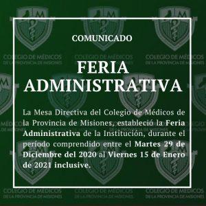 El Colegio de Médicos estableció Feria Administrativa
